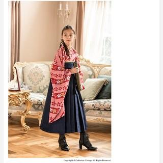キャサリンコテージ(Catherine Cottage)の袴セット 桜柄着物 紺袴 160cm キャサリンコテージ(和服/着物)