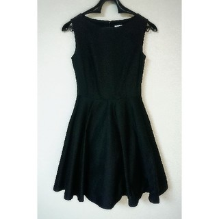 ニーナミュウ(Nina mew)のニーナミュウ ワンピース ドレス 黒 ブラック フレア Aライン(ひざ丈ワンピース)