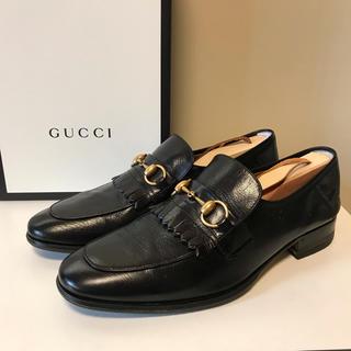 グッチ(Gucci)の☆美品 グッチ ホースビット キルト レザー ローファー シューズ イタリア製(ドレス/ビジネス)
