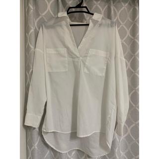 バビロン(BABYLONE)のBABYLONE Saloon 衿抜き白シャツ(シャツ/ブラウス(長袖/七分))