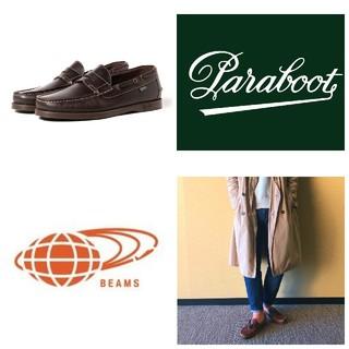 パラブーツ(Paraboot)の美品/エクスクルーシブParaboot×BEAMS別注Corsicaシューズ(デッキシューズ)