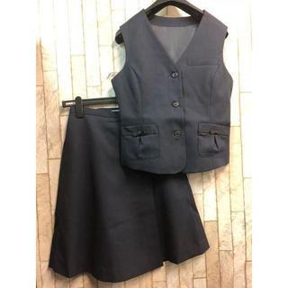 e05cc3603726b 新品☆7号♪キュロットスカートの紺色のベストスーツセット☆n290(