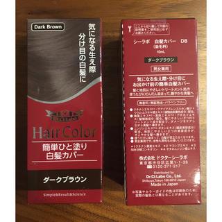 ドクターシーラボ(Dr.Ci Labo)のドクターシーラボ  簡単ひと塗り 白髪カバー ダークブラウン 2本セット(白髪染め)