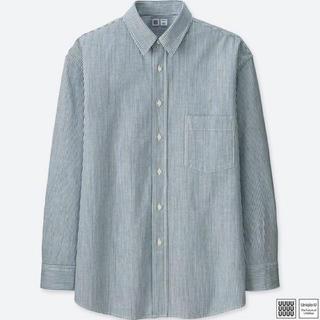 ユニクロ(UNIQLO)のUNIQLO U ヒッコリーオーバーサイズシャツ(シャツ)