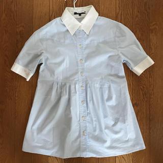 ニジュウサンク(23区)の23区 日本製ストライプシャツ32(シャツ/ブラウス(半袖/袖なし))