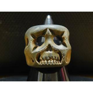 アンプジャパン(amp japan)のアンプジャパン ウッドリング スカル 15号 木製 指輪(リング(指輪))