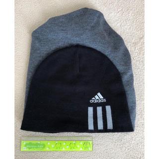 アディダス(adidas)のワッチキャップ ニット帽(ニット帽/ビーニー)