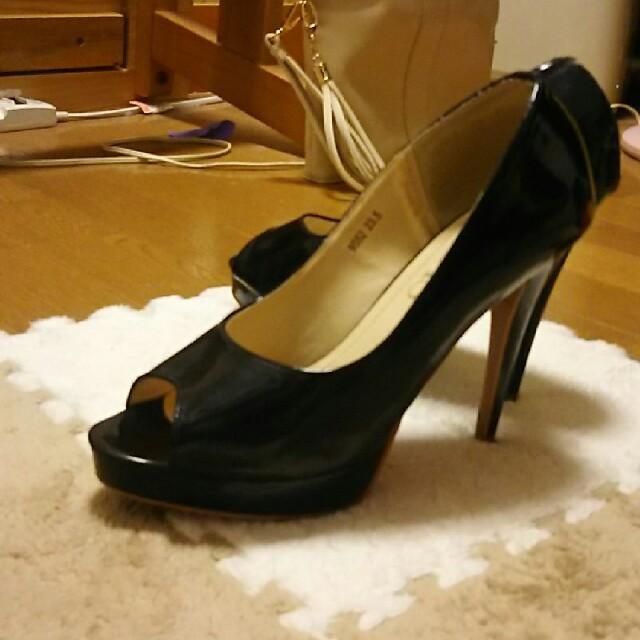 DURAS(デュラス)のDURAS  デュラスのオープントゥパンプス レディースの靴/シューズ(ハイヒール/パンプス)の商品写真