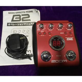 ズーム(Zoom)のZOOM B2 ベース用マルチエフェクター 美品(ベースエフェクター)