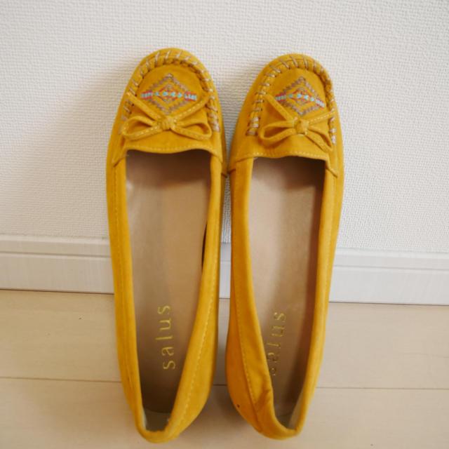 salus(サルース)のイエロー 春 モカシン LL レディースの靴/シューズ(スリッポン/モカシン)の商品写真