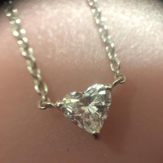 アーカー(AHKAH)のハートダイヤモンド ネックレス(ネックレス)