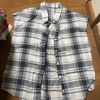 ジーユー(GU)のマドラスチェックシャツ(シャツ/ブラウス(半袖/袖なし))