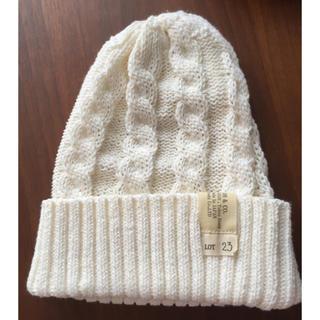 カシラ(CA4LA)のCA4LA*サマーニット帽*ホワイト(ニット帽/ビーニー)