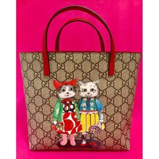 グッチ(Gucci)の新品★グッチ ヒグチユウコ コラボバッグ★GUCCI 赤 猫(トートバッグ)