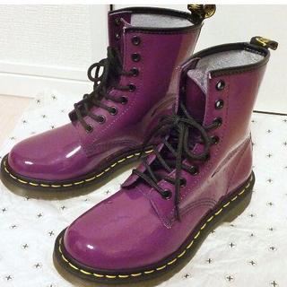 ドクターマーチン(Dr.Martens)のDr.Martens/UK3(22.0cm~22.5cm)/8ホールパープル(ブーツ)