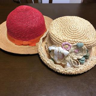 マザウェイズ(motherways)の麦わら帽子2つセット(帽子)