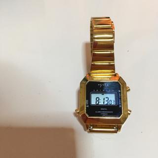 アガット(agete)のagete デジタルウォッチ ゴールド(腕時計)