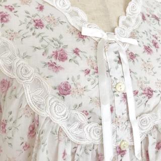 ワコール(Wacoal)の新品☆ワコールWacoal 薔薇小花柄ネグリジェ パジャマ ローン生地 Mサイズ(パジャマ)