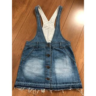 ジーユー(GU)のサロペットスカート 130センチ(スカート)