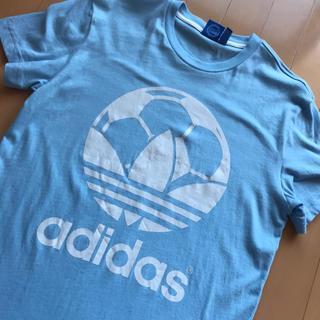 アディダス(adidas)のadidas サッカーボール ロング丈 Tシャツ サッカー soccer(Tシャツ/カットソー(半袖/袖なし))