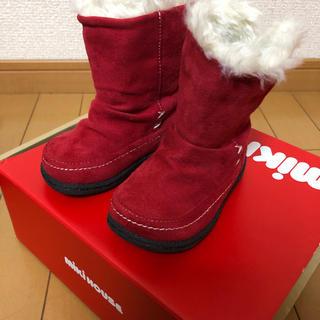 ミキハウス(mikihouse)のミキハウス 13cm 赤色のショートブーツで、一度履いた超美品です。中敷きもあり(ブーツ)