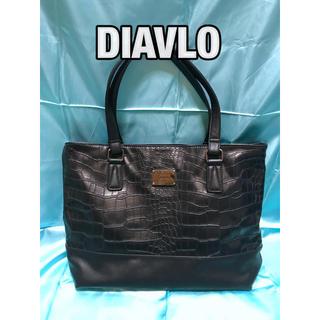 ディアブロ(Diavlo)の美品 DIAVLO トートバッグ ビジネスバッグ ボストンバッグ ディアブロ 黒(ビジネスバッグ)