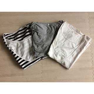 ムジルシリョウヒン(MUJI (無印良品))の授乳服 マタニティTシャツ 3枚セット(マタニティトップス)