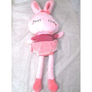 【値下げ】LOVEうさぎぬいぐるみ110cm おやすみタイプ【送料込】(ぬいぐるみ/人形)