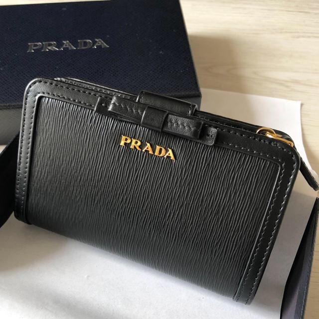 58b3d8c0ebca PRADA - 新品未使用♡PRADA 2つ折り財布 Vitello Move おリボンの通販 by ...