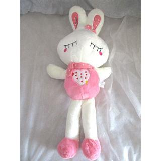 【値下げ】LOVEハートうさぎぬいぐるみ70cm(ピンク)【送料込】(ぬいぐるみ/人形)