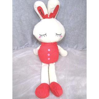 【値下げ】LOVEうさぎぬいぐるみ100cm レッド インテリア 【送料込】(ぬいぐるみ/人形)