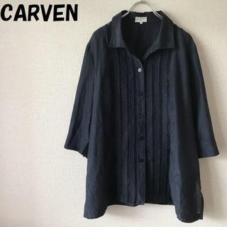 カルヴェン(CARVEN)の【人気】CARVEN/カルヴェン シルク混 7分丈 シャツ サイズ50(シャツ/ブラウス(長袖/七分))