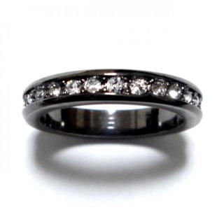 21号 スワロフスキー フルエタニティ ガンメタリング(リング(指輪))