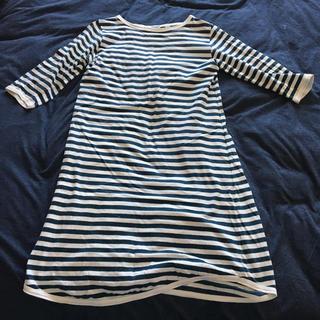 ビームスボーイ(BEAMS BOY)の五分袖 ストライプロングシャツ(Tシャツ(半袖/袖なし))