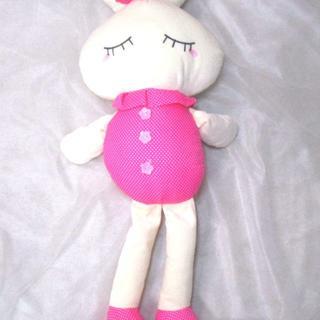 【値下げ】LOVEうさぎぬいぐるみ70cm ディープピンク 【送料込】(ぬいぐるみ/人形)