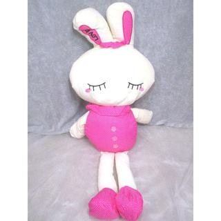 【値下げ】LOVEうさぎぬいぐるみ100cm ディープピンク【送料込】(ぬいぐるみ/人形)