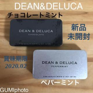 ディーンアンドデルーカ(DEAN & DELUCA)のDEAN&DELUCA ミント缶セット 2点&ショッピングバッグ ブラック(菓子/デザート)