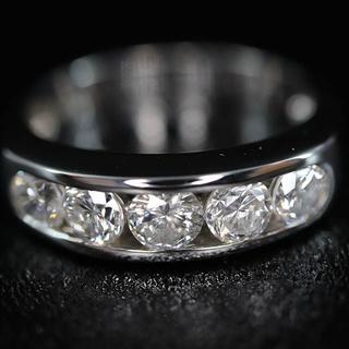 Pt900 5連 1.00ct ダイヤモンド デザイン リング(リング(指輪))