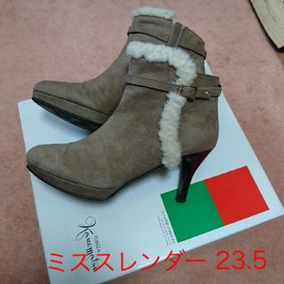 ギンザカネマツ(GINZA Kanematsu)のカネマツ ミススレンダー ショートブーツ 23.5(ブーツ)