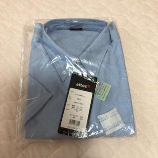 アイトス(AITOZ)の半袖T/Cオックスボタンダウンシャツ(男女兼用)(シャツ)