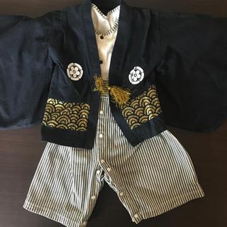 ベルメゾン(ベルメゾン)の紋付はかま風ロンパース 80(和服/着物)