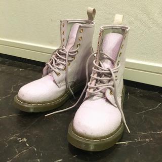 ドクターマーチン(Dr.Martens)のドクターマーチン 8ホールブーツ パステルパープル 23.5cm 24cm 38(ブーツ)