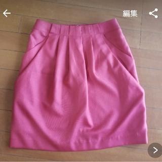 rope ピンクラズベリースカート(ひざ丈スカート)