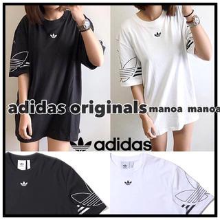 アディダス(adidas)のブラック XSサイズ adidas originals ロゴTシャツ(Tシャツ/カットソー(半袖/袖なし))