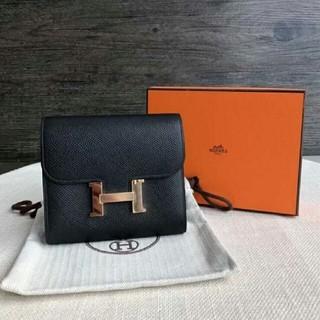 b21b14016ee3 エルメス(Hermes)の美しすぎる エルメス コンスタンス コンパクト 財布 ブラック(財布