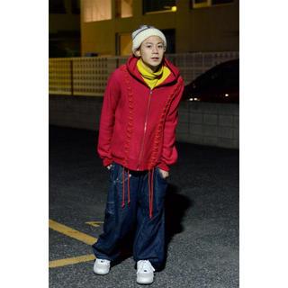 ジエダ(Jieda)のfacetasm 編み込みパーカー rope hoodie(パーカー)