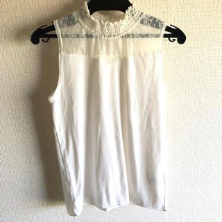 ミスティウーマン(mysty woman)のレースノースリカットソー(カットソー(半袖/袖なし))