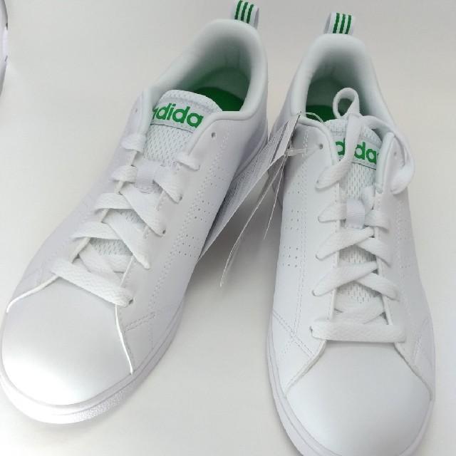 adidas(アディダス)のadidasアディダス◆VALCLEAN2◆グリーン×ホワイト◆24cm新品 レディースの靴/シューズ(スニーカー)の商品写真