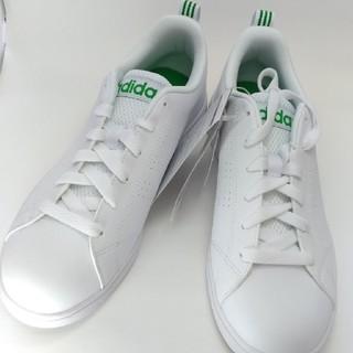 アディダス(adidas)のadidasアディダス◆VALCLEAN2◆グリーン×ホワイト◆24cm新品(スニーカー)