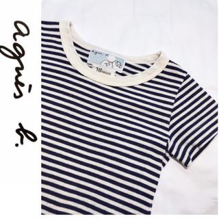 アニエスベー(agnes b.)のagnis.b ボーダーTシャツ 半袖(Tシャツ)
